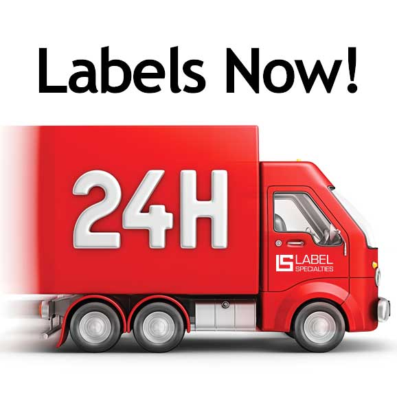 Delivery truck graphic with 24H lettering on side