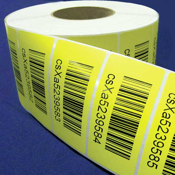 Roll of sequential bar code labels
