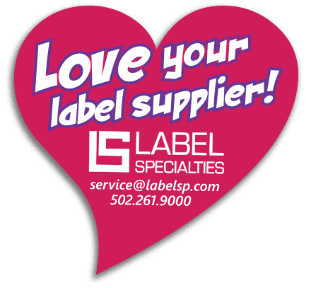 Heart that says: Love your label supplier.